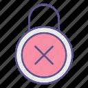 locks, padlock, protection, refuse, security icon