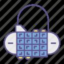 code, crypto, locks, padlock, pass, protection, security icon
