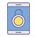 device, lock, locks, padlock, protection, security, smartphone icon