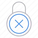 locks, padlock, protection, refuse, security icon