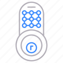 crypto, door, locks, padlock, pass, protection, security icon