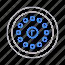 digital, locks, padlock, protection, security, smart icon