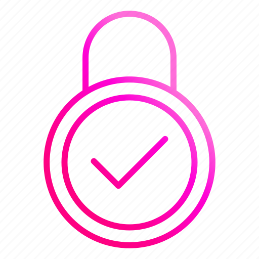 Checked, lock, padlock, protection icon - Download on Iconfinder