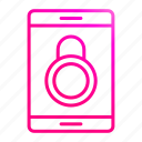 lock, protection, security, smartphone icon