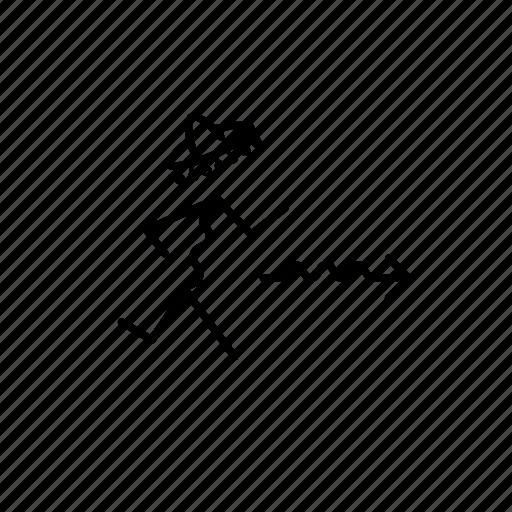 arrow, bar, door, exit, hat, line, man, poeple, restaurant, run, shop, women icon