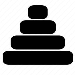 build, game, logic, pyramid icon