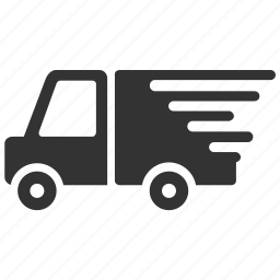 delivery, fast, logistic, quick, shipment, shipping, truck icon