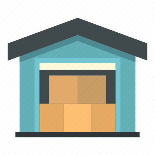 building, business, cargo, delivery, shipping, transportation, warehouse icon
