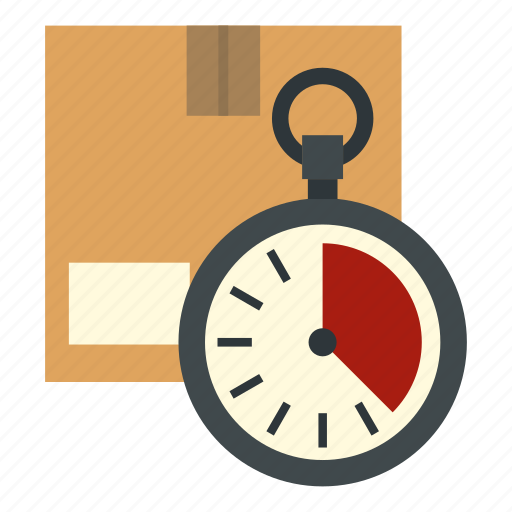 box, cardboard, carton, chronometer, clock, container, stopwatch icon