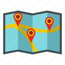 direction, gps, location, map, pin, pointer, travel icon