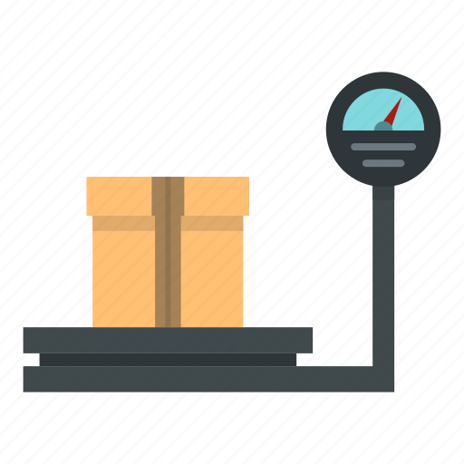 box, business, cargo, container, delivery, scale, weigh icon