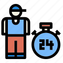 cargo, delivery, logistic, man, transport icon