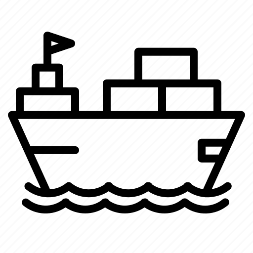 boat, container, delivery, logistic, ship, transportation, vehicle icon
