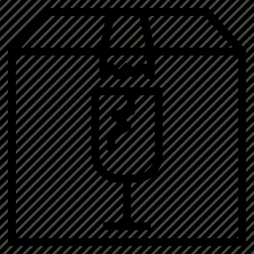 Box, broken, fragile, glass, warning icon - Download on Iconfinder