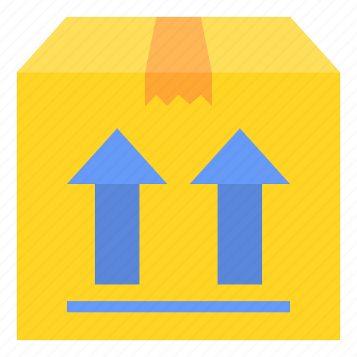 box, deliver, package, up icon