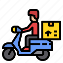 bike, delivery, motorbike, package icon