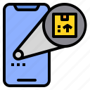 location, package, parcel, track icon