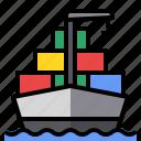 cargo, container, ship, shipping