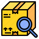 find, location, package, tracking icon