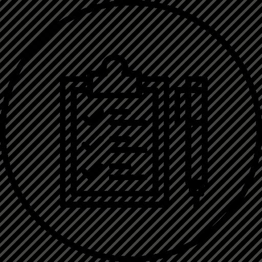 checklist, clipboard, delivery, logistic, pen, sign, tick icon