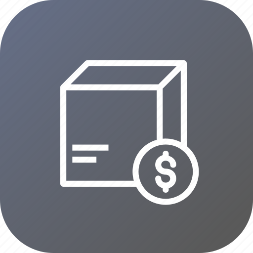 box, cod, delivery, dollar, logistic, package, parcel icon