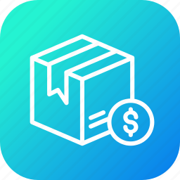 box, card, delivery, dollar, logistic, package, parcel icon
