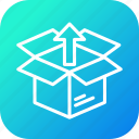 box, delivery, logistic, package, parcel, shipping, unpack icon