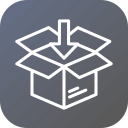 box, delivery, import, logistic, package, parcel, unpack icon