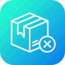 box, delivery, logistic, pack, package, parcel, wrong icon