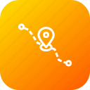 current, delivery, detaination, location, logistic, pin, source icon