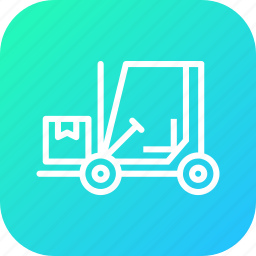 boxes, delivery, forklift, logistic, luggage, parcel, shipping icon