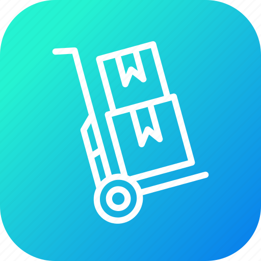 boxes, delivery, handtruck, logistic, luggage, parcel, shipping icon