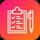 checklist, clipboard, delivery, list, logistic, pen, tick icon