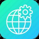 globe, globel, international, setting, transport, travel, world icon