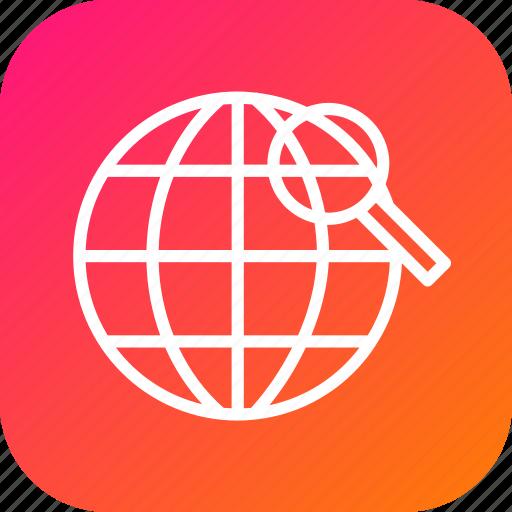 find, globe, globel, international, logistic, transport, world icon