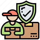 cargo, delivery, insurance, protection, secure icon