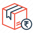 box, cash, cod, delivery, logistic, package, parcel icon