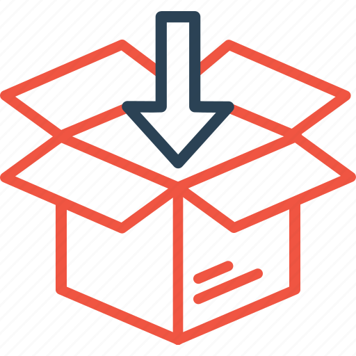 box, delivery, import, package, parcel, shipping, unpack icon
