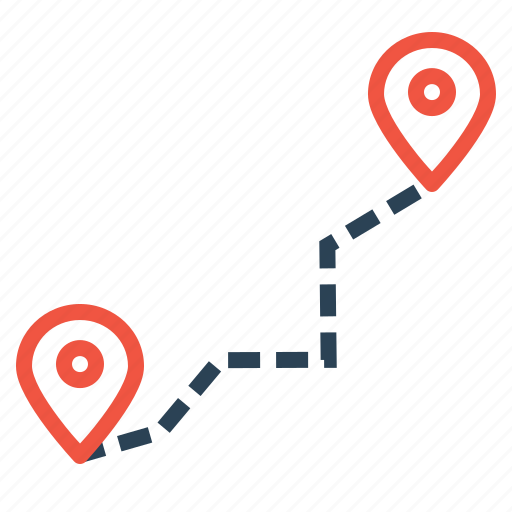delivery, detaination, location, logistic, navigation, pin, source icon