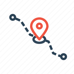 current, detaination, location, logistic, navigation, pin, source icon