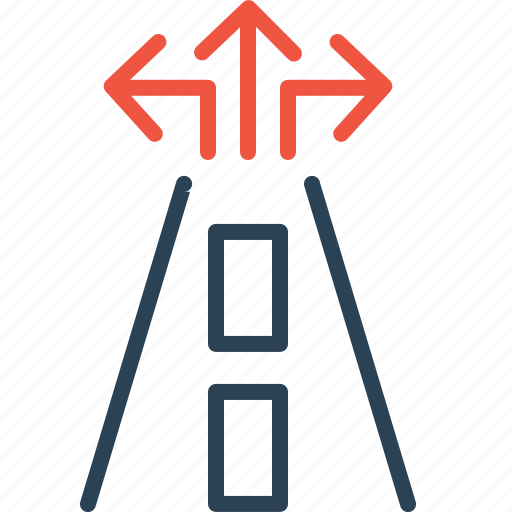 arrow, destination, guide, map, road, sign, way icon