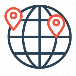 globe, globel, international, location, logistic, transport, travel icon