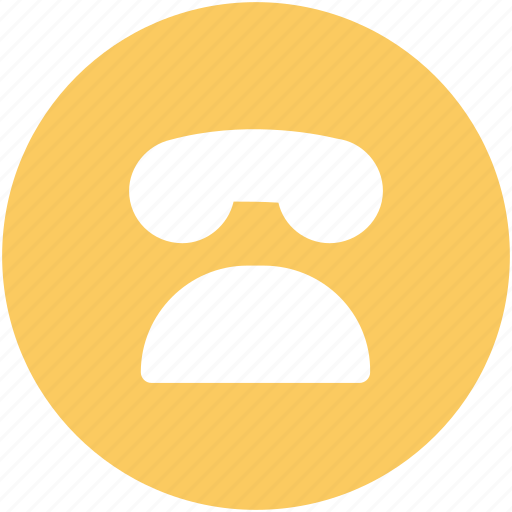 call, landline phone, make a call, retro telephone, ringing, telecommunication, telephone set icon
