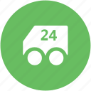 delivery van, distribution, shipment, shipping van, transport, twenty four hours service, vehicle icon
