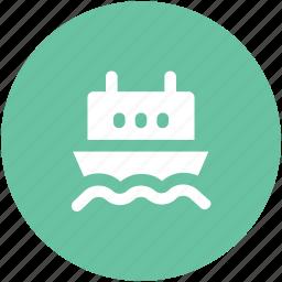 cruise ship, luxury cruise, ship, shipment, shipping, shipping boat, vessel icon