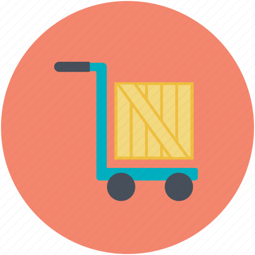 Image result for Hand truck trolley icon
