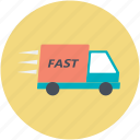 delivery car, delivery van, fast delivery, hatchback, van icon