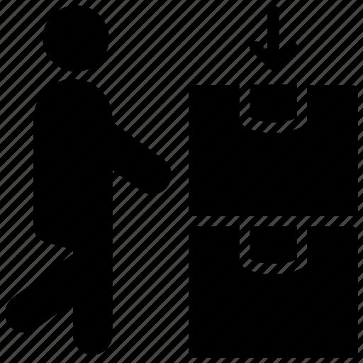 bearer, carrier, conveyor, porter, warehouse keeper icon