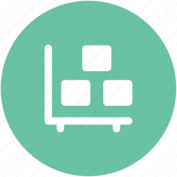 dolly, hand truck, luggage carrier, luggage cart, platform truck, pushcart, warehouse delivery icon