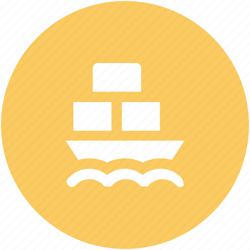 cargo ship, cargo vessel, freight, ship, shipment, shipping, worldwide shipping icon